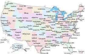 usa map key cities usa cities map einfon