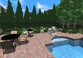 rock border around a pool with landscaping around a pool full