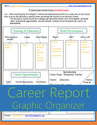 Firefighter Job Outlook 5th Grade Career Portfolio Project Graphic Organizer U0026 Completed