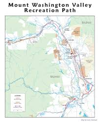 Nh Map Map Mount Washington Valley Recreation Path North Conway Nh