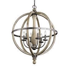 Kichler Lighting Fixtures by Kichler Lighting Evan 28 5 In 6 Light Distressed Antique Gray
