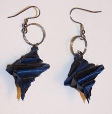 origami earrings tutorial how to make spiral origami earrings the beading gem s