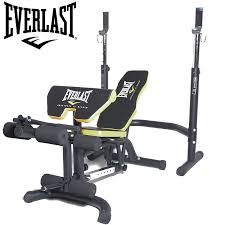 everlast olympic weight bench with preacher pad and leg extension