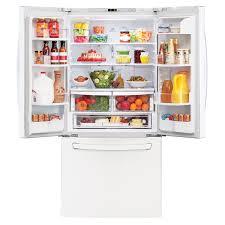 lg bottom freezer french door refrigerator lg 23 6 cu ft french door refrigerator white pcrichard com