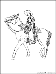 cowboy coloring pages free printable colouring pages for kids to