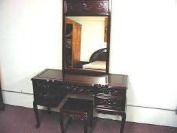 Furniture Vanity Table Solid Rosewood Furniture Dressing Table Dressing Chair Mirror