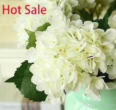 silk hydrangea dhl free high quality real touch hydrangea big flower 19cm 7 5