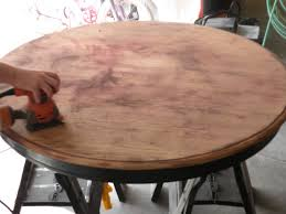 Coffee And Cocoa Tea Kitchen Table Redo - Sanding kitchen table