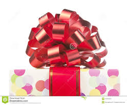 big ribbon gift with big bow and ribbon stock photo image of packaging