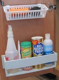 kitchen under cabinet storage under the sink organization bathroom and kitchen organizing tips