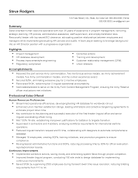 Hr Assistant Resume Samples Resume Template Human Resources Position