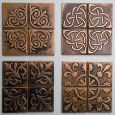 copper backsplash tiles kitchen surfaces pinterest exceptional surfaces products creative metal tiles main page