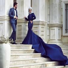 muslim wedding dress royal blue wedding dress sleeves muslim bridal gowns shiny