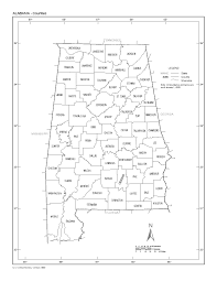 Counties In Alabama By Size Blank Map Of Alabama Counties Swimnova Com