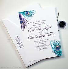 peacock invitations vintage peacock feather wedding invitations by artist