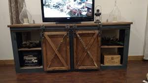 Mirrored Barn Door by Console Table With Glass Doors Picture With Fascinating Console