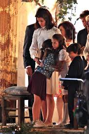 caroline kennedy children katie holmes is a dead ringer for jackie kennedy as she films
