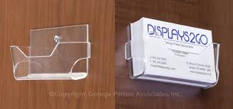 workshop series acrylic business card holder for wall open design