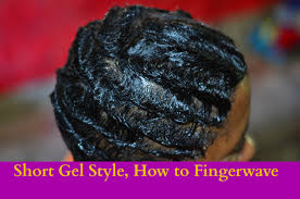 how to short hair gel style fingerwave tutorial first attempt