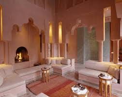 moroccan inspired rooms orange tulips in white jars round shaped