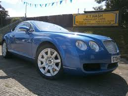 bentley coupe used blue bentley continental gt for sale suffolk