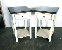 white wood end table distressed wood end table naderve info