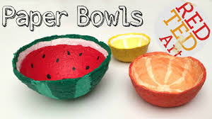 Cool Fruit Bowls by How To Make A Bowl From Shredded Paper Diy Watermelon Craft