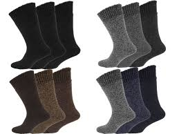 12 pairs men s non elastic wool socks thick work boot socks with