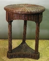 round wicker end table woven rattan side table with round tray tropical side tables rattan