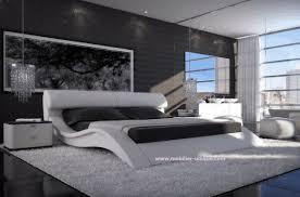 meuble de chambre design lit en cuir design haut de gamme en 160 x 200 matera