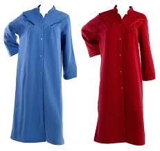 dressing gown dressing gown womens soft polar fleece button up traditional