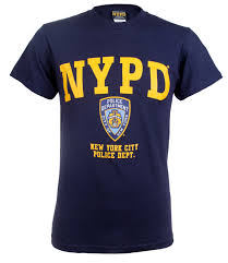 nypd badge t shirt with police on back
