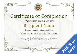 examples of certificates of completion certificate of completion free quality printable templates