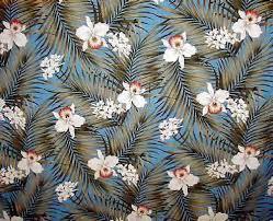 Upholstery Fabric Hawaii Fern Barkcloth Hawaii Fabrics Vintage Style Hawaiian Fabric