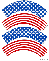 cupcake wrappers inspired by the american flag