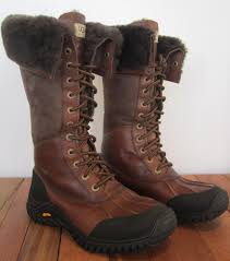 ugg australia s purple adirondack boots ugg australia adirondack womens sz 7 leather boot waterproof