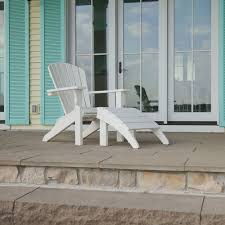 Adirondack Outdoor Furniture Polywood Seashell Adirondack Chair Sh22
