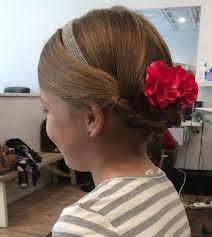 flower hair bun 20 flawless flower girl hairstyles