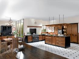 cuisine blanc et noyer decoration interieur peinture cuisine