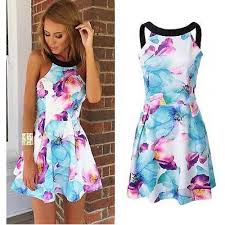 floral dresses casual print floral sleeveless dress