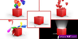 gift box opening pack motion graphic videohive free after