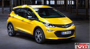 opel yellow opel ampera e chevy bolt clone starts at usd 33 650 in norway