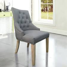 grey linen chair grey linen back dining chair with copper nails set of 2 dwc