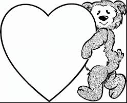 valentine bear coloring pages coloring page