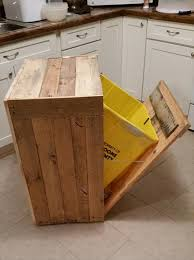 kitchen trash can ideas pallet kitchen trash can holder 101 pallet ideas pallets and