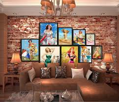 custom size photo european american star retro brick wall mural painting restaurant cafe bar tv background wall wallpaper in wallpapers from home