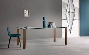 Contemporary Dining Table Contemporary Dining Table Wooden Glass Leather Livingstand
