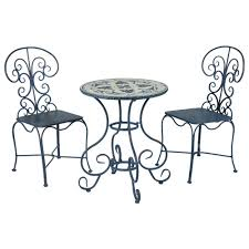 Metal Garden Table And Chairs Aluminum Bistro Sets Patio Dining Furniture The Home Depot