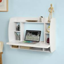 Kleiner Schreibtisch Mit Viel Stauraum Sobuy Wandtisch Schreibtisch Computertisch Bücherregal Fwt18 W