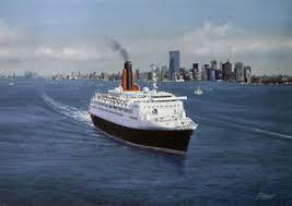 queen elizabeth 2 qe2 cunard ocean liner cruise ship new york